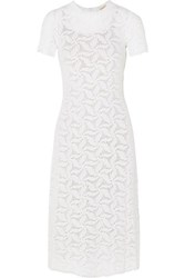Michael Michael Kors Crocheted Cotton Dress White