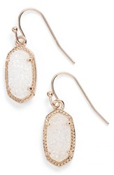 Kendra Scott Women's 'Lee' Small Drop Earrings Iridescent Drusy Rose Gold