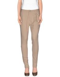 Scee By Twin Set Casual Pants Beige