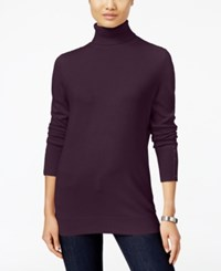 Jm Collection Button Cuff Turtleneck Sweater Only At Macy's Tulip Purple