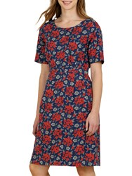 Seasalt Wild Bluebell Dress Geranium Brick
