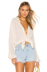 Jens Pirate Booty Bonny Button Up Top White
