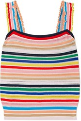 J.Crew Striped Stretch Knit Top Multi