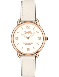 Coach 14502790 Delancey Slim Rose Gold Plated And Leather Watch