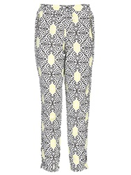 Izabel London Damask Print Trousers Yellow