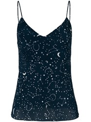 Gilda And Pearl Constellation Print Top Blue