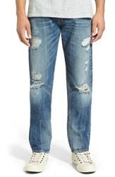 True Religion Men's Brand Jeans 'Geno' Distressed Straight Leg Jeans