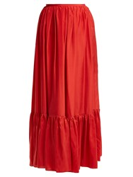 Loup Charmant Flores Tiered Silk Skirt