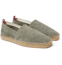 Castaner Pablo Washed Canvas Espadrilles Green