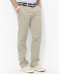 Polo Ralph Lauren Flat Front Chino Pants Classic Fit Hudson Tan