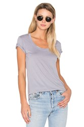 Cotton Citizen The Mykonos Scoop Tee Gray