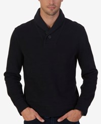 Nautica Men's Shawl Collar Sweater True Black