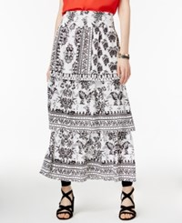 Inc International Concepts Tiered Maxi Skirt Only At Macy's Dandy Floral
