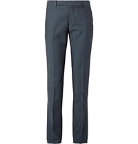 Maison Martin Margiela Blue Slim Fit Wool And Cotton Blend Twill Trousers