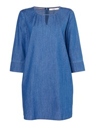 Dickins And Jones Lydia Woven Tunic Blue