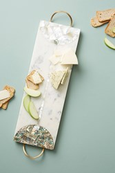Anthropologie Nina Marble Cheese Board White