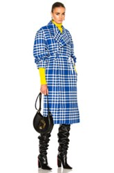 Jacquemus Check Coat In Blue Checkered And Plaid Blue Checkered And Plaid