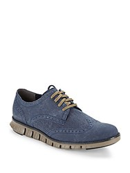 Cole Haan Wingtip Lace Up Shoes Marine Blue