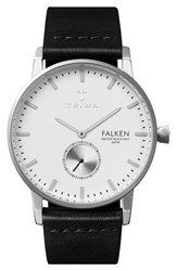 Men's Triwa 'Falken' Leather Strap Watch 38Mm