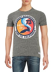 Superdry Graphic Cotton Blend Tee Venice Blue