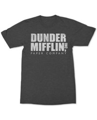 New World The Office T Shirt Charcoal