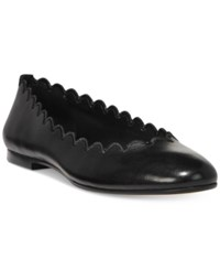 Dkny Willow Flats Created For Macy's Black Leather