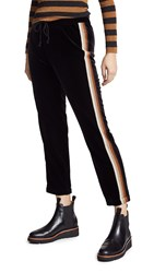 Mother The Lounger Ankle Sweats Black Metallic Racer