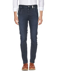 High Casual Pants Slate Blue
