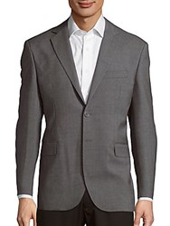 Yves Saint Laurent Textured Two Button Jacket Grey