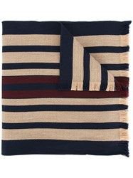 Kent And Curwen Striped Scarf Virgin Wool