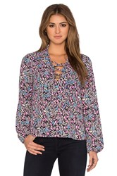 Eight Sixty Zoe Floral Top Purple