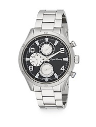 English Laundry Stainless Steel Chronograph Bracelet Watch