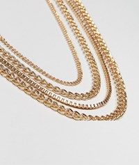 Asos Design Chain Pack In Gold