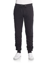 American Stitch Side Zip Jogger Pants Black