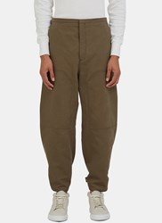 Acne Studios Phase Cropped Work Pants Khaki