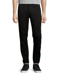 Atm Anthony Thomas Melillo Relaxed Soft Knit Moto Pants Black