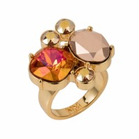 Nadia Minkoff The Kate Cocktail Ring Gold Magma Gold Yellow Orange