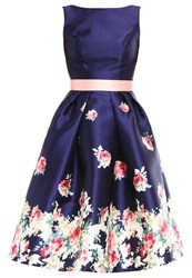 Chi Chi London Kady Cocktail Dress Party Dress Navy Dark Blue