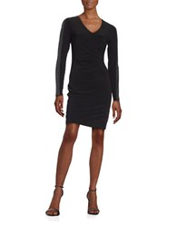 Guess Studded Ruched Dress Black