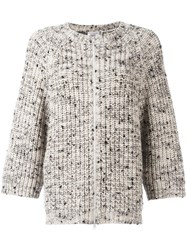 Brunello Cucinelli Zip Up Cardigan Nude Neutrals