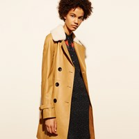 Coach Leather Trench Camel