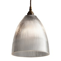 Old School Electric Elongated Prismatic Pendant Light Small