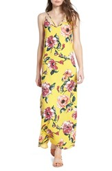 One Clothing Floral Print Maxi Dress Mustard Floral