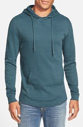 Men's The Rail Waffle Knit Hoodie Blue Calypso
