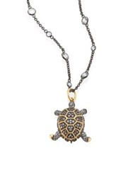 Annoushka Mythology Diamond And 18K Yellow Gold Baby Turtle Amulet