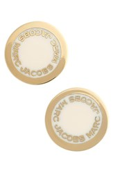 Marc By Marc Jacobs Women's Marc Jacobs Logo Disc Stud Earrings Cream
