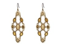 Lucky Brand Citrine And Mother Of Pearl Chandelier Earrings Gold Earring