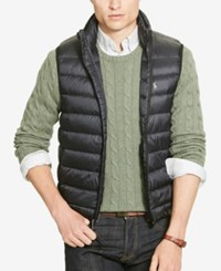 Polo Ralph Lauren Men's Big And Tall Packable Down Vest Polo Black