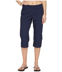 Mountain Khakis Poplin Capris Slim Fit Midnight Blue Women's Capri