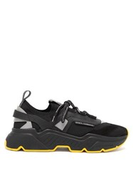 Dolce And Gabbana Daymaster Leather Suede Mesh Trainers Black